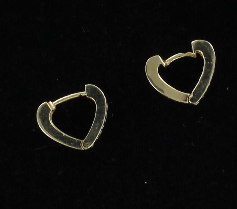 14KT .50 CT TW BAGUETTE DIAMOND HUGGIE EARRINGS