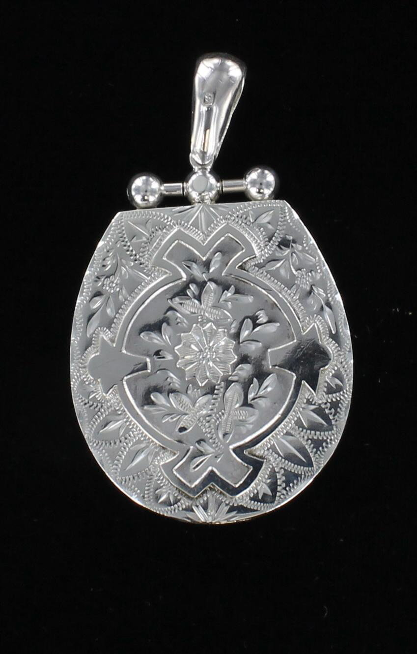 STERLING SILVER LOCKET CIRCA 1900