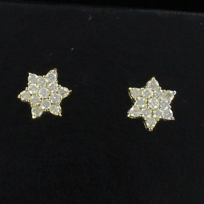 14KT DIAMOND STAR EARRINGS