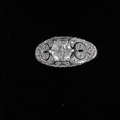 18KT 1.0 CT OLD MINE CUT DIAMOND RING