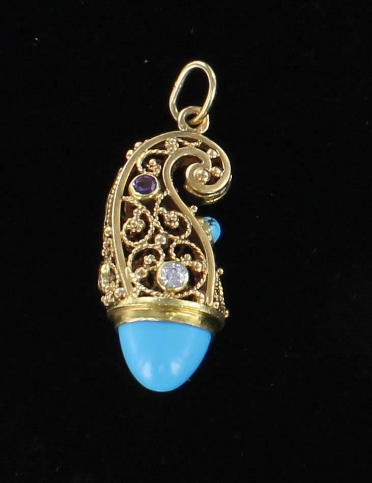 18KT TURQUOISE FOB