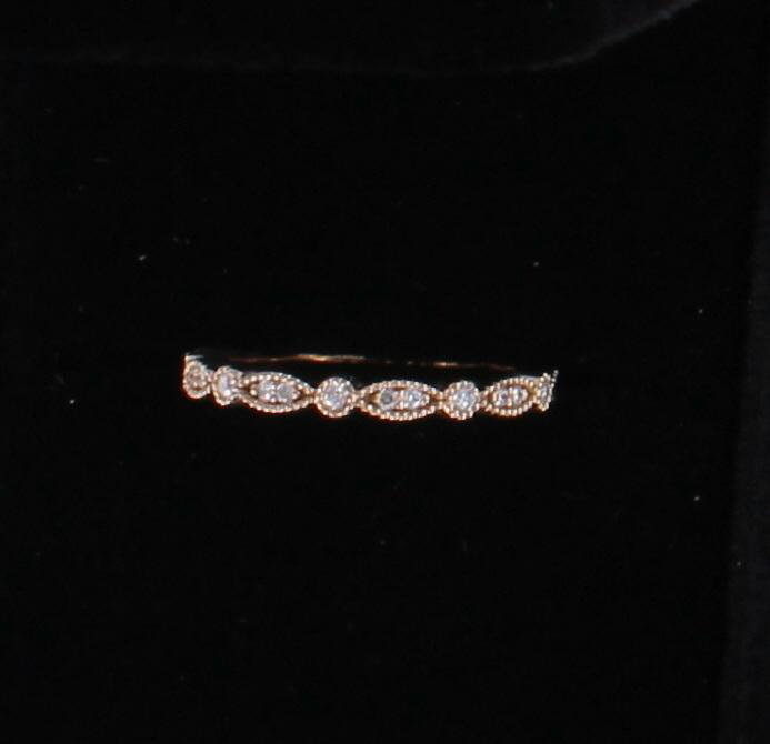 14KT ROSE GOLD .38 CT TW DIAMOND ETERNITY BAND