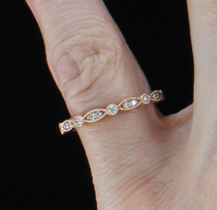 14KT ROSE GOLD .38 CT TW DIAMOND ETERNITY BAND