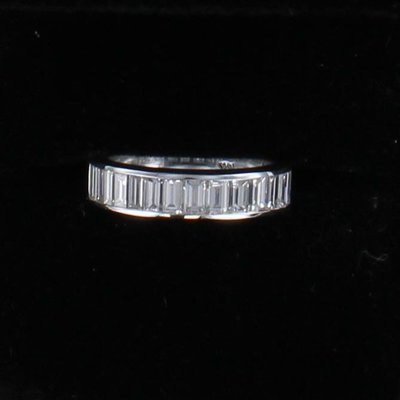 14KTW 1.75 CT TW DIAMOND BAGUETTE BAND