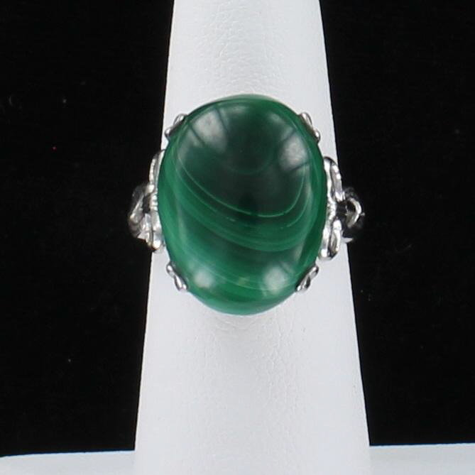 STERLING SILVER MALACHITE RING