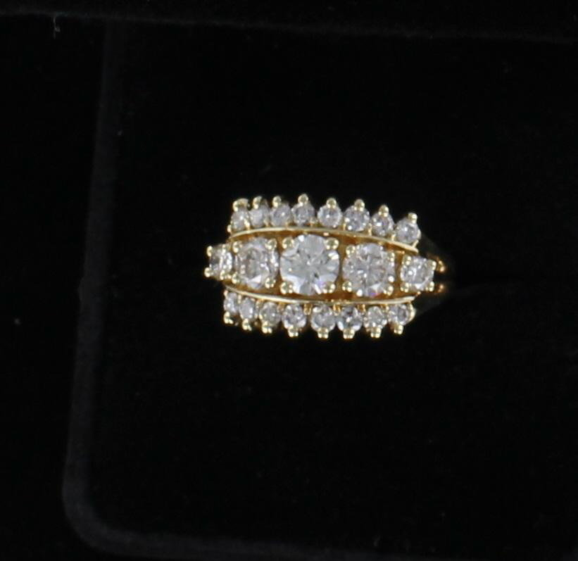 14KTY 1.30 CT TW DIAMOND RING