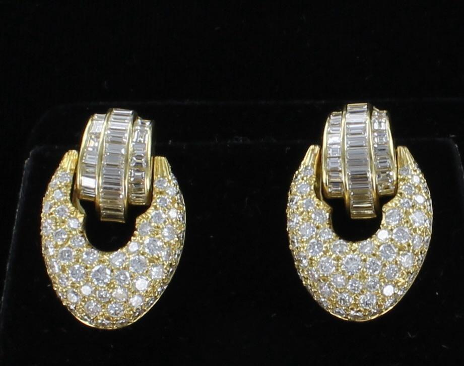 18KTY 5.50 CT TW DIAMOND EARRINGS 036-782