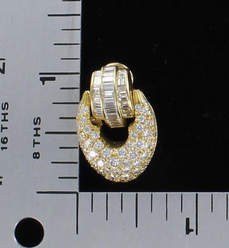 18KTY 5.50 CT TW DIAMOND EARRINGS