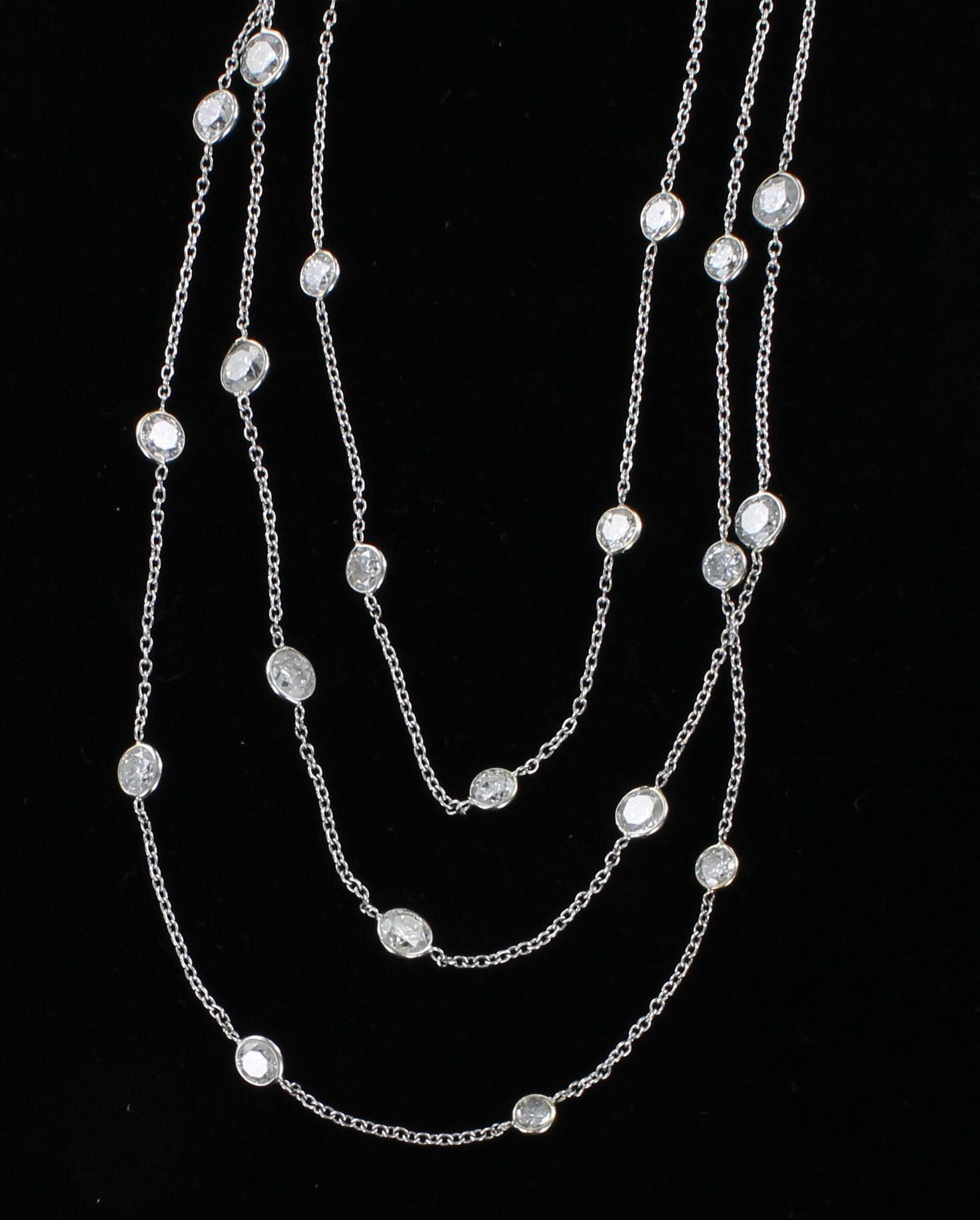 14KTW 22.5 CT TW DIAMOND CHAIN NECKLACE 205-2593