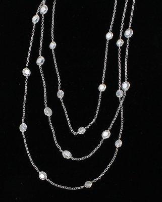 14KTW 22.5 CT TW DIAMOND CHAIN NECKLACE