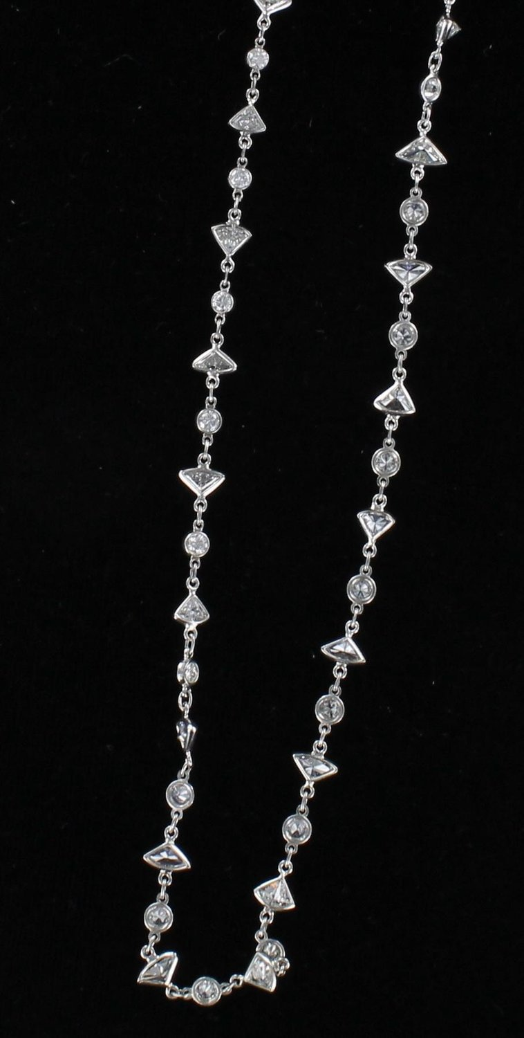 PLATINUM 6.0 CT TW DIAMOND CHAIN/NECKLACE