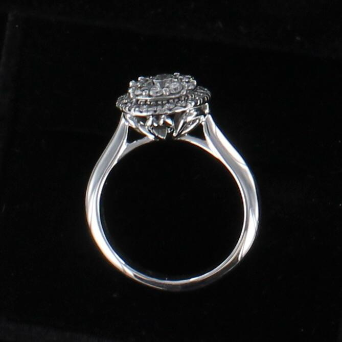 14KT 1.5 CT TW ROUND BRILLIANT DIAMOND ENGAGEMENT RING