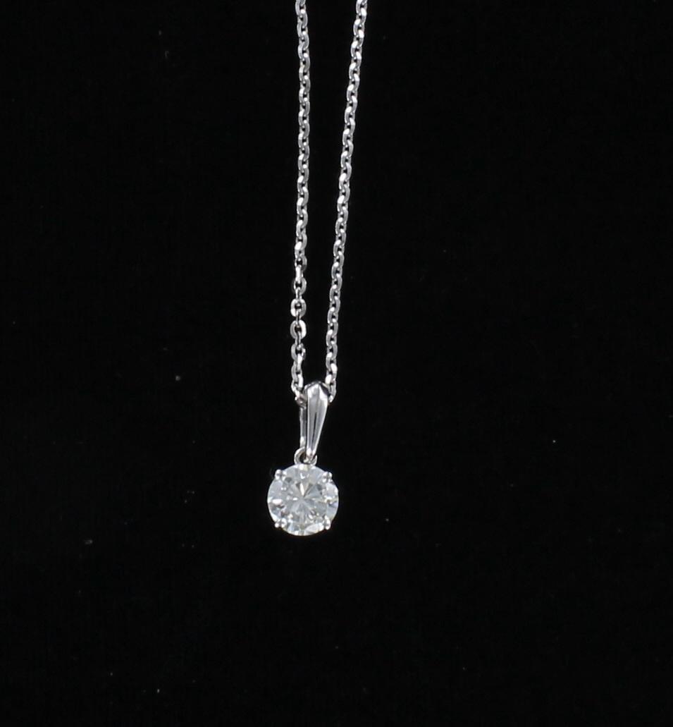 14KT DIAMOND PENDANT 195-4306