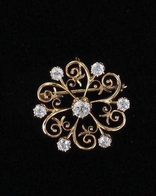 14KT DIAMOND PIN/PENDANT