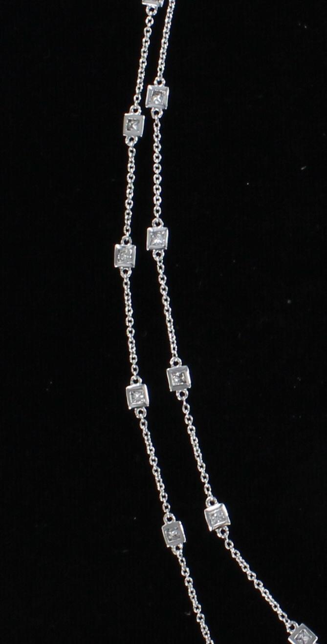 14KTW PRINCESS-CUT DIAMOND CHAIN