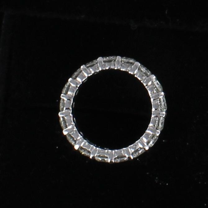 14KT DIAMOND ETERNITY BAND, SZ 5
