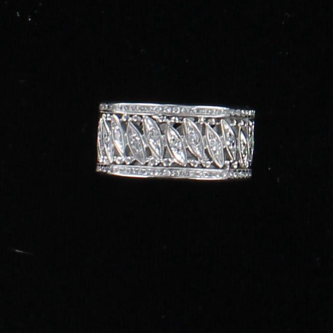 14KTW DIAMOND ETERNITY BAND, SZ 6.75 101-2897