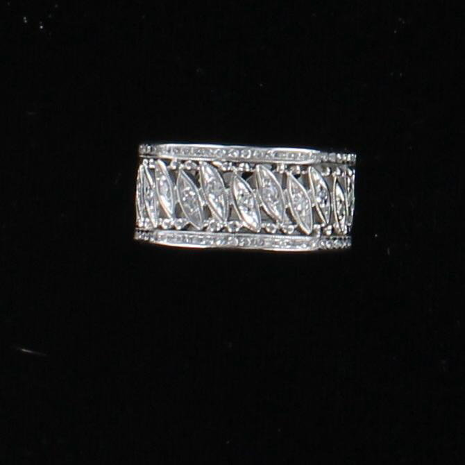 14KTW DIAMOND ETERNITY BAND, SZ 6.75