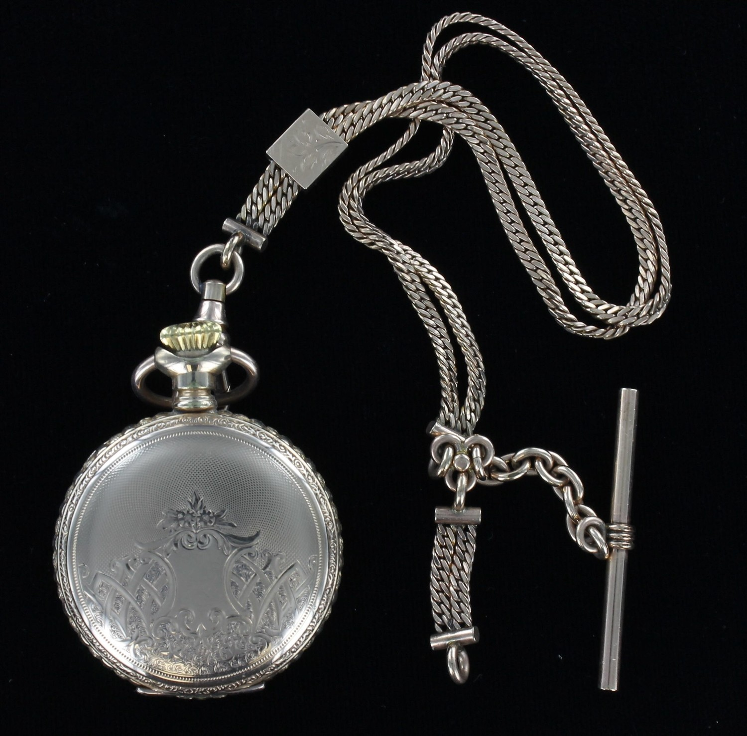 GOLD-FILLED POCKET WATCH AND CHAIN 1930
