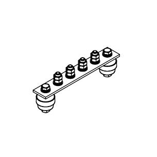 Главная заземляющая шина ГЗШ.02-430.180.4М8-ГЦ
