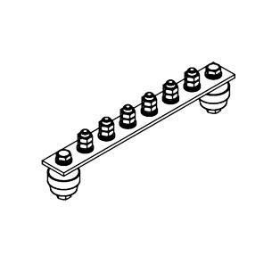 Главная заземляющая шина ГЗШ.02-430.240.6М8-ГЦ