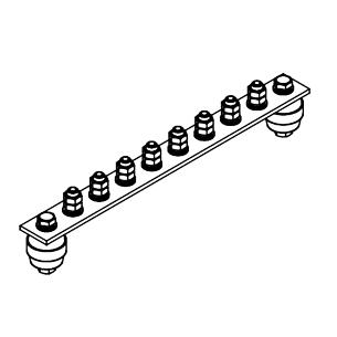 Главная заземляющая шина ГЗШ.02-430.300.8М8-ГЦ