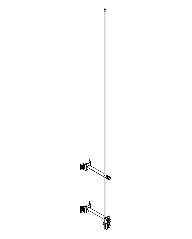 Молниеприемник стержневой сборный МСС-3.8КЛ-1000-0,15Н
