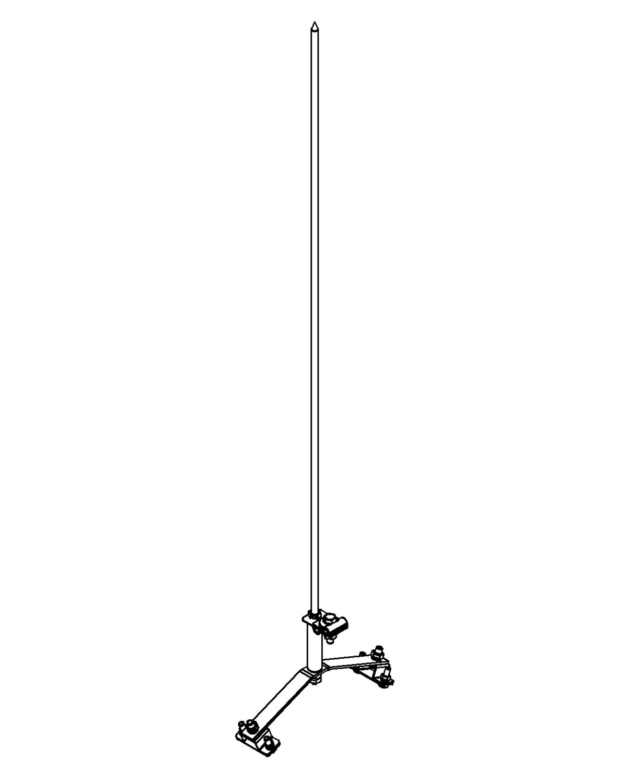 Молниеприемник стержневой сборный МСС-3.4КД-1100-125ГЦ