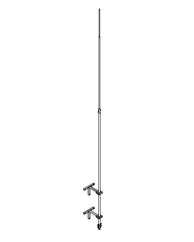 Молниеприемник стержневой сборный МСС-3.2К-6000-0,4ГЦ