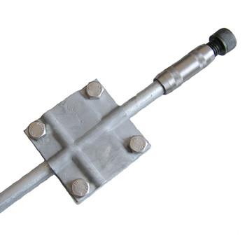Комплект заземления из горячеоцинкованной стали КЗЦ-10.1.20.102, 1x10,5 метров