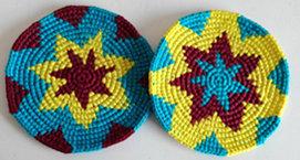 Coasters - Chiltote, Yellow, Sky Blue - Set of 6