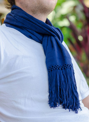 "10"" Wide Scarf - Navy"