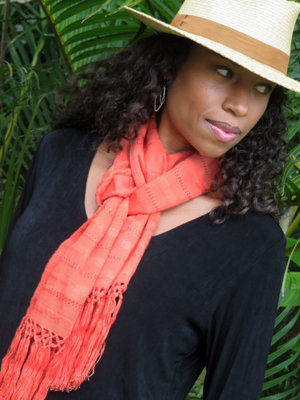 "10"" Wide Scarf - Melon"