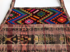 Brown Jaspe Apron with Chichicastenango Huipil