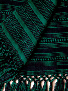 "10"" Wide Scarf - Emerald, Blue"