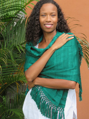 "20"" Wide Scarf/Shawl - Emerald"