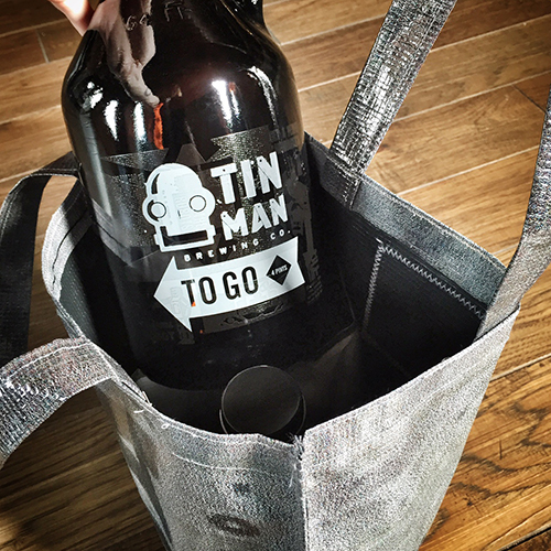 Upcycled Growler Tote