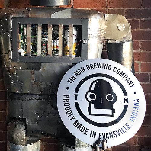 Tin Man Round Sign
