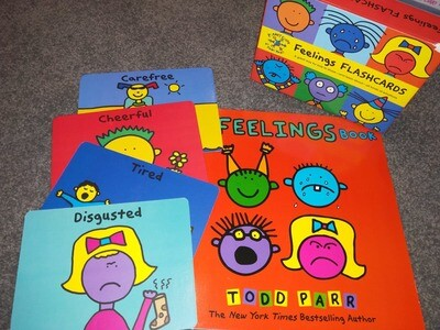 Feelings Flashcards + The Feelings Book