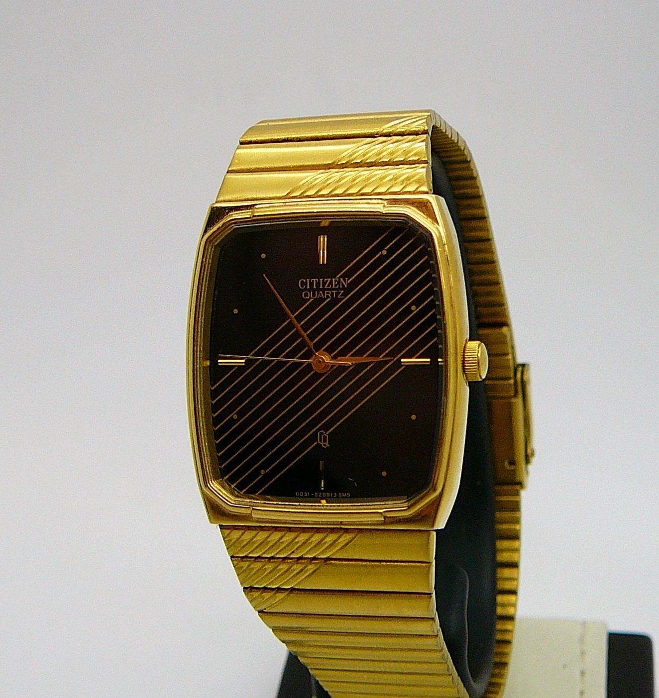 CITIZEN Dress, Black and Gold Tone