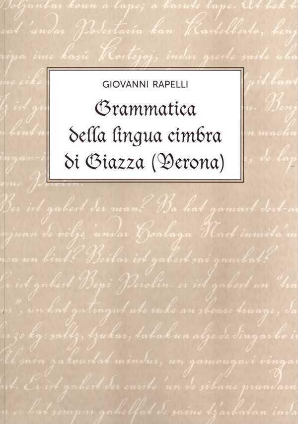 Grammatica della lingua Cimbra di Giazza (Verona)