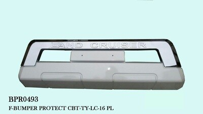 Front bumper protector Wht/Chr
