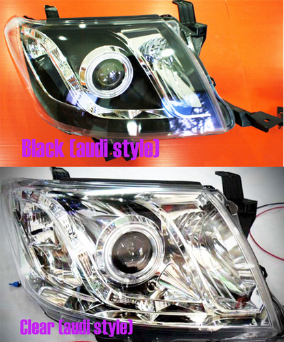 Audi Style Head Lights Black or Clear Pair 00047