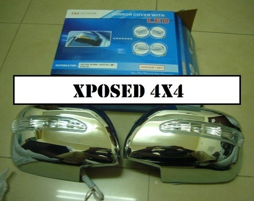 Chrome Mirror Covers With Blinker Lights