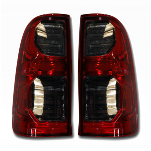 Tails Lights Red and Black Pair 00055