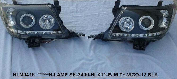 2014 Toyota Hilux Head Lights angel eyes pair 0000068
