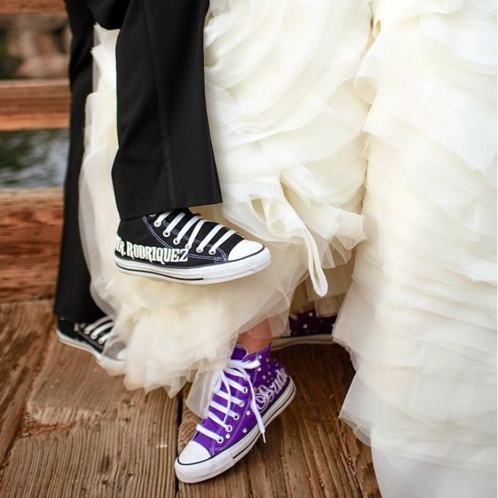 65f603c7cfe45 Custom Bride + Groom Wedding Converse