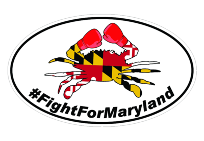 Fight For Maryland Boxing Crab Sticker