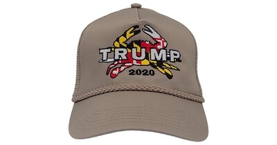 Maryland for Trump 2020 Mesh Back Crab Hat