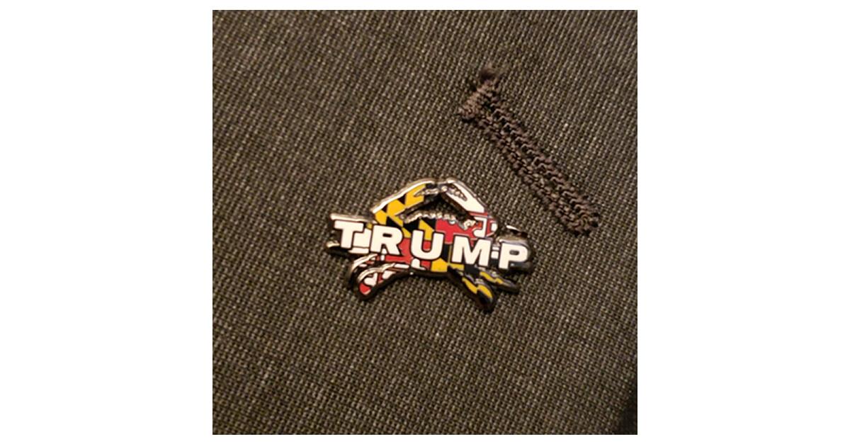 Maryland for Trump Crab Pin